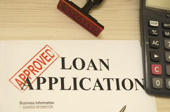 Approved Loan Application Stock Photo