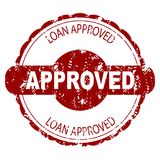 Approved loan rubber stamp. Vector loan stamp, approved seal for mortgage illustration Stock Image