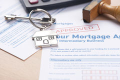 Approved mortgage application Stock Photos