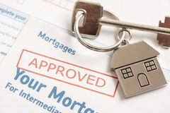 Approved mortgage application Royalty Free Stock Photo