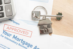 Approved mortgage application Royalty Free Stock Photography