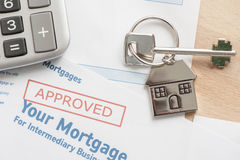 Approved mortgage application Stock Image