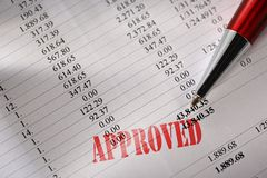 Approved operating budget Royalty Free Stock Images