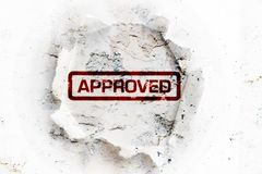 Approved paper hole Royalty Free Stock Photography