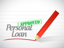 Approved personal loan stamp illustration design Royalty Free Stock Images