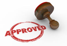Approved Red Round Stamp Word Accepted Stock Photo