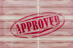 Approved red Stamp. Royalty Free Stock Images