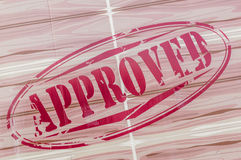 Approved red Stamp. Royalty Free Stock Photo