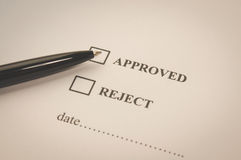 Approved and reject checked Royalty Free Stock Image
