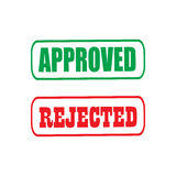 Approved rejected icon. Vector illustration in flat style Royalty Free Stock Photos