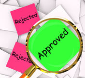 Approved Rejected Post-It Papers Show Passed Or Denied Royalty Free Stock Photography
