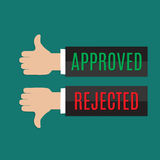Approved and rejected sign Royalty Free Stock Image