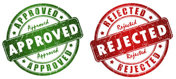 Approved Rejected Stamp Stock Images
