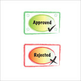 Approved and rejected stamp Royalty Free Stock Photos