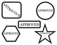 approved rubber stamp бесплатная иллюстрация