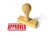 Approved rubber stamp Stock Photography