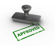 Approved Rubber Stamp Royalty Free Stock Photography