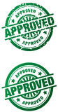 Approved Rubber Stamp - clean and grunge style Stock Image