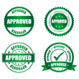 Approved rubber stamp. Collection on white, illustration vector illustration