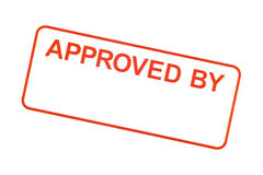Approved By Rubber Stamp Royalty Free Stock Photos