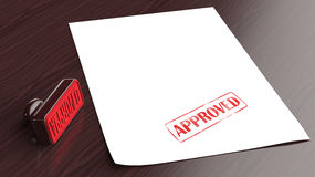 Approved Rubber Stamp Stock Image