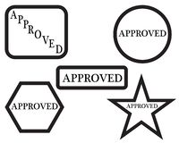 Approved rubber stamp royalty free illustration