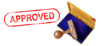 APPROVED Rubber Stamp Royalty Free Stock Image
