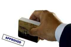 Approved Rubber Stamps Stock Photos