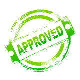 Approved seal. Illustration of approved seal on white background royalty free illustration