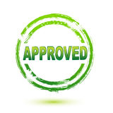 Approved seal. Illustration of approved seal on isolated background Royalty Free Stock Photography