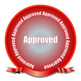 Approved Seal Royalty Free Stock Photos