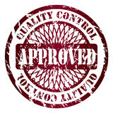 Approved seal. Approved grunge seal design on white background Stock Photos