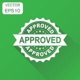 Approved seal stamp icon. Business concept approve accepted badg Royalty Free Stock Image