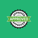 Approved seal stamp vector icon. Approve accepted badge flat vec Royalty Free Stock Photo