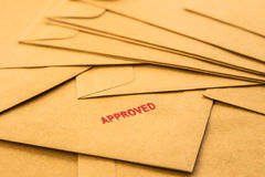 Approved sign on envelope Royalty Free Stock Photography