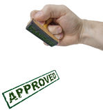 Approved sign form stamp Royalty Free Stock Image