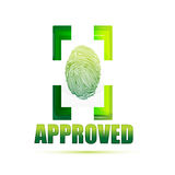Approved sign with thumb Royalty Free Stock Images