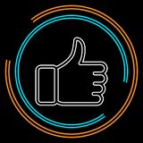 Approved sign - thumb up symbol, ok approval royalty free illustration