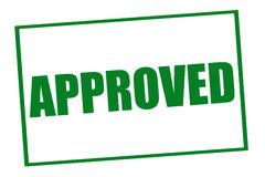 Approved Stamp Royalty Free Stock Photography