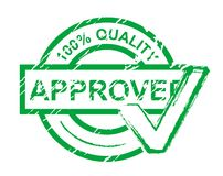 Approved stamp. Check approved stamp islated on white for design royalty free illustration