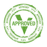 Approved stamp. Vector approved rubber stamp on white stock illustration