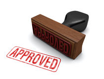 Approved Stamp. Rubber stamp that says APPROVED stamped in red letters on a white background Royalty Free Stock Images