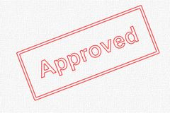 Approved Stamp. Approved - a red stamp for approval of any kind royalty free stock photo
