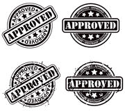 Approved Stamp. An approval approved Rubber stamp set vector illustration