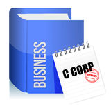 Approved stamp on a C corporation legal document. Illustration design over white Royalty Free Stock Image