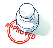Is approved by a stamp concept. Illustration vector EPS8 royalty free illustration