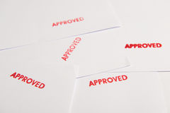 Approved Stamp On Document Stock Photography