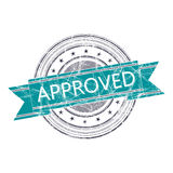 Approved stamp. Approved grunge rubber stamp on white Stock Photography