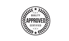 Approved stamp icon. Retro, vintage , grunge Royalty Free Stock Photography