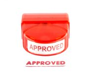 Approved stamp. Isolated on white background Stock Images